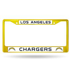 NFL Yellow Chrome License Plate Frame - Chargers
