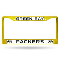 NFL Yellow Chrome License Plate Frame - Packers