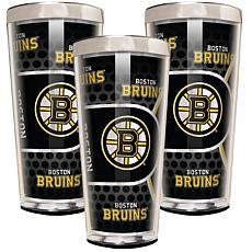 NHL 3-piece Shot Glass Set - Bruins