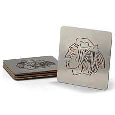 NHL Boasters 4-piece Coaster Set - Chicago Blackhawks