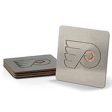 NHL Boasters 4-piece Coaster Set - Philadelphia Flyers