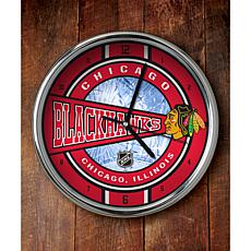 NHL Chrome Clock - Blackhawks