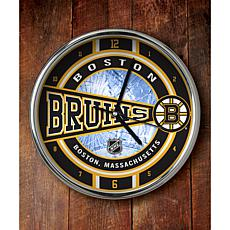NHL Chrome Clock - Bruins