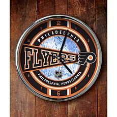 NHL Chrome Clock - Flyers