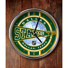 NHL Chrome Clock - Stars
