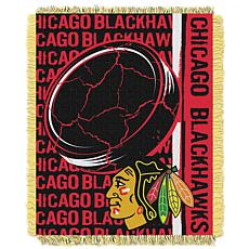 NHL Double Play Woven Throw - Chicago Blackhawks