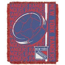 NHL Double Play Woven Throw - New York Rangers