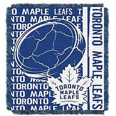 NHL Double Play Woven Throw - Toronto Maple Leafs