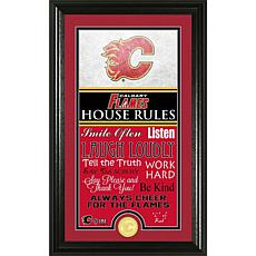 NHL House Rules Supreme Bronze Coin Photo Mint - Calgary Flames