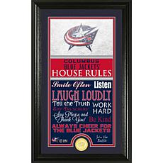 NHL House Rules Supreme Bronze Coin Photo Mint - Columbus Blue Jackets