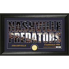 NHL Silhouette Panoramic Bronze Coin Photo Mint - Nashville Predators
