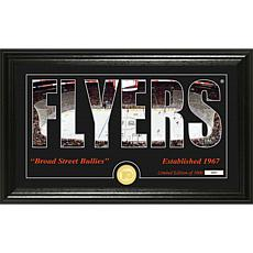 NHL Silhouette Panoramic Bronze Coin Photo Mint - Philadelphia Flyers