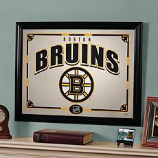 "NHL Sports Team 23"" x 18"" Framed Mirror - Boston Bruins"