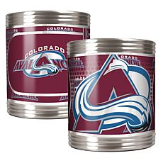 NHL Stainless 2-piece Can Holder Set - Avalanche