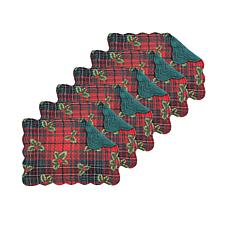 Nicholas Plaid Red Placemat 6-Pack