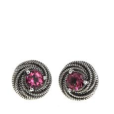 Nicky Butler 1ctw Pink Topaz Sterling Silver Love Knot Earrings