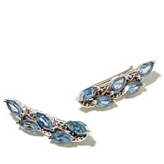 Nicky Butler 2.50ctw Sky Blue Topaz Climber Earrings