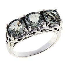 Nicky Butler 2.55ctw Prasiolite Cushion-Cut Trio Ring