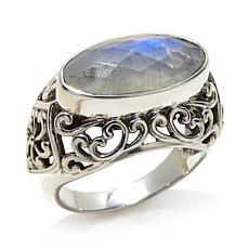 Nicky Butler 4.45ctw Moonstone East/West Filigree Ring