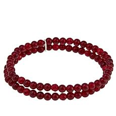 Nicky Butler 4mm Gemstone Bead Double Row Medium Stretch Bracelet