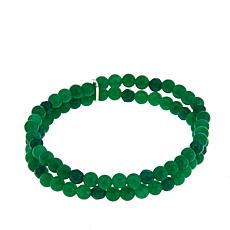 Nicky Butler 4mm Gemstone Bead Double Row Small Stretch Bracelet
