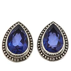 Nicky Butler 5.5ctw Pear-Shaped Blue Quartz Triplet Earrings