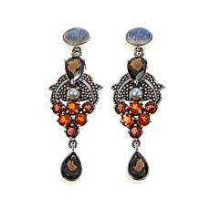 Nicky Butler 6.60ctw Smoky Quartz and Gem Earrings