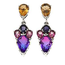 Nicky Butler 9.64ctw Purple Haze Quartz Triplet and Gem Earrings