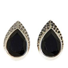 Nicky Butler Black Onyx Hammered Earrings