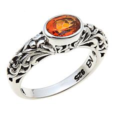 Nicky Butler Honey Topaz East/West Oval Sterling Silver Band Ring