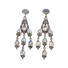 Nicky Butler Moonstone and Cultured Pearl Earrings