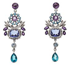 Nicky Butler Raj Amethyst and Multigem Earrings
