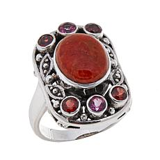Nicky Butler Sponge Coral and Multigem  Ring