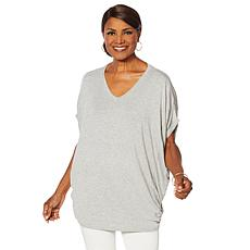 Nina Leonard Dolman Sleeve Tunic with Side Buttons