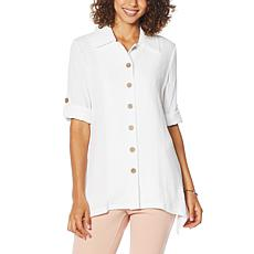 Nina Leonard Easy Stretch Textured Shirt