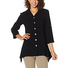 Nina Leonard Easy Stretch Textured Shirt
