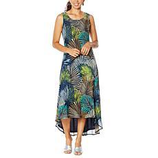 Nina Leonard Sleeveless Printed Power Mesh Dress