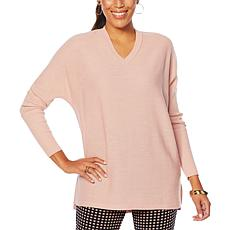 Nina Leonard V-Neck Boxy Sweater