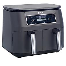 Ninja Dual Zone Air Fryer with Broil Rack and Recipes
