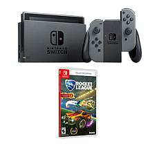 """Nintendo Gray Switch Bundle w/Accessories and """"Rocket League"""" Game"""