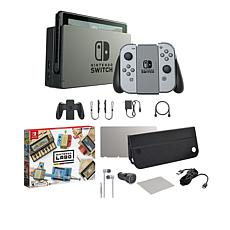 Nintendo Gray Switch Bundle with Accessory Set and Labo Variety Kit