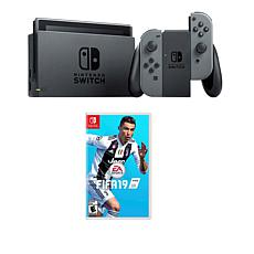 "Nintendo Switch Bundle with ""FIFA 19"" Game and Accessories"