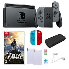 "Nintendo  Switch Bundle with  ""Legend of Zelda: Breath of the Wild"""