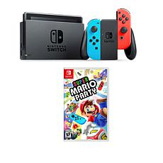 "Nintendo Switch Bundle with ""Super Mario Party"" Game and Accessories"
