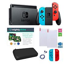 Nintendo Switch Console Bundle with MightySkins Voucher and Case