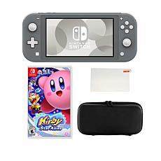 Nintendo Switch Lite with Kirby Star Allies Game and Accessories