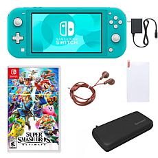 Nintendo Switch Lite  with Super Smash Bros. & Accessories - Turquoise