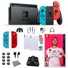 Nintendo Switch Neon with Fifa 20 and Accessories