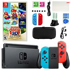 Nintendo Switch with Super Mario 3D All Stars Game & Accessories