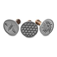 Nordic Ware Honeybee Cast Cookie Stamps